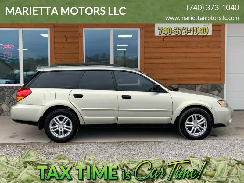 2005 Subaru Outback for sale at MARIETTA MOTORS LLC in Marietta OH