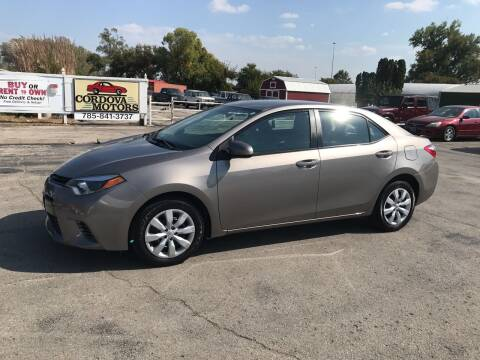 2015 Toyota Corolla for sale at Cordova Motors in Lawrence KS