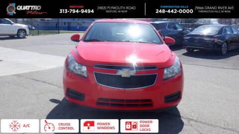 2014 Chevrolet Cruze for sale at Quattro Motors 2 - 1 in Redford MI