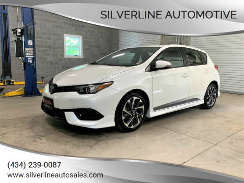 2017 Toyota Corolla iM for sale at Silverline Automotive in Lynchburg VA