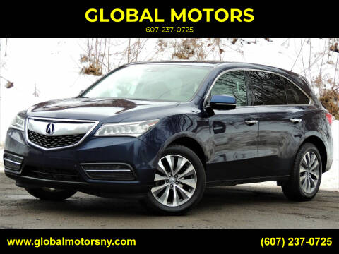 2014 Acura MDX for sale at GLOBAL MOTORS in Binghamton NY