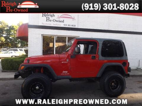 2003 Jeep Wrangler for sale at Raleigh Pre-Owned in Raleigh NC