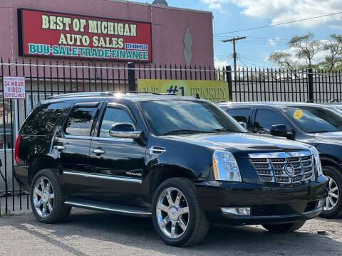 2013 Cadillac Escalade for sale at Best of Michigan Auto Sales in Detroit MI