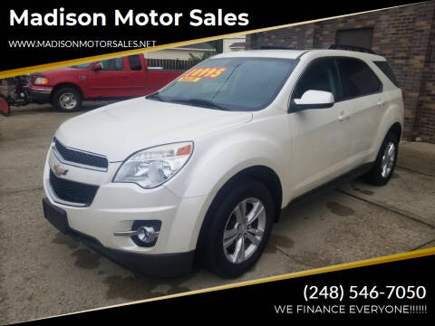 2012 Chevrolet Equinox for sale at Madison Motor Sales in Madison Heights MI