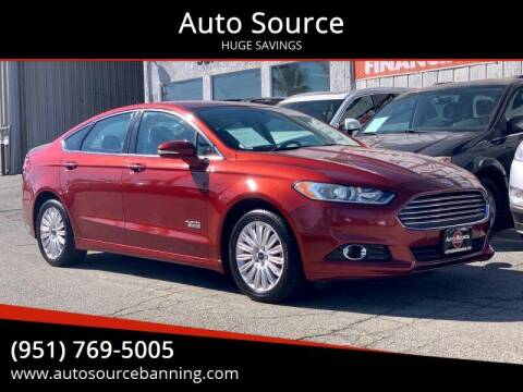 2014 Ford Fusion Energi for sale at Auto Source in Banning CA