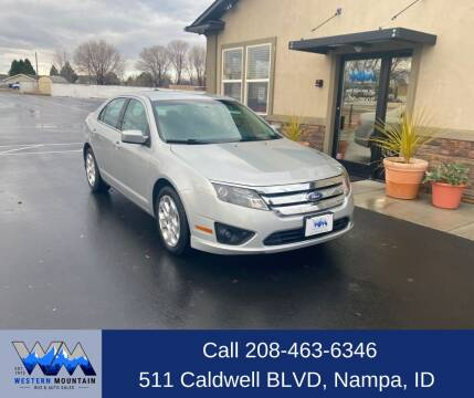 2010 Ford Fusion for sale at Western Mountain Bus & Auto Sales in Nampa ID