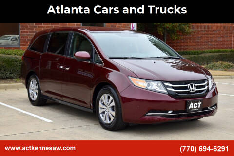 2017 Honda Odyssey for sale at Atlanta Cars and Trucks in Kennesaw GA