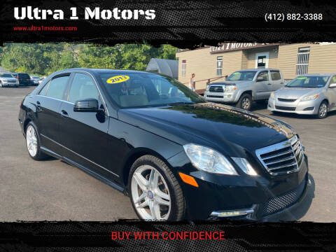 2013 Mercedes-Benz E-Class for sale at Ultra 1 Motors in Pittsburgh PA