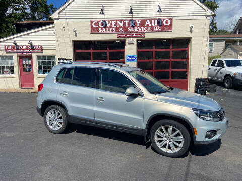 2013 Volkswagen Tiguan for sale at COVENTRY AUTO SALES in Coventry CT