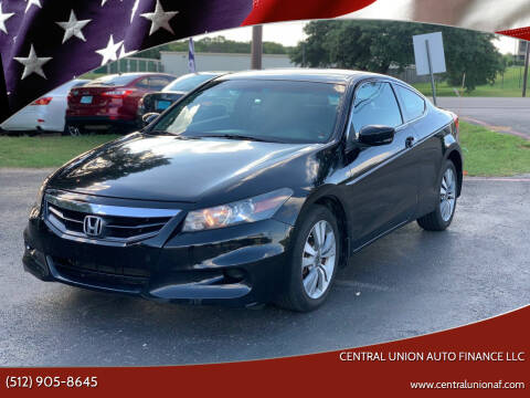 2011 Honda Accord for sale at Central Union Auto Finance LLC in Austin TX
