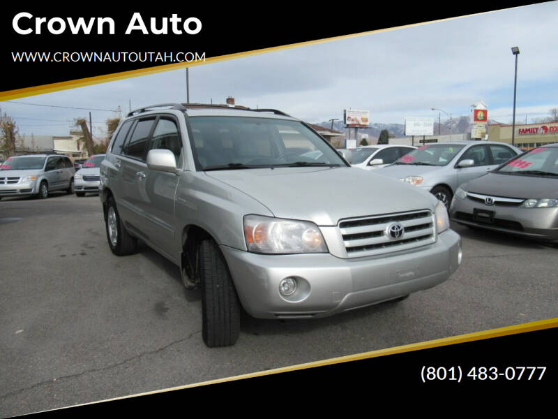 2005 Toyota Highlander for sale at Crown Auto in South Salt Lake City UT