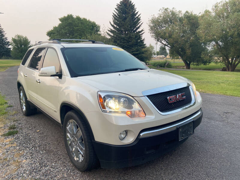 2010 GMC Acadia for sale at BELOW BOOK AUTO SALES in Idaho Falls ID