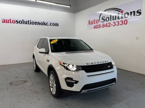 2015 Land Rover Discovery Sport for sale at Auto Solutions in Warr Acres OK
