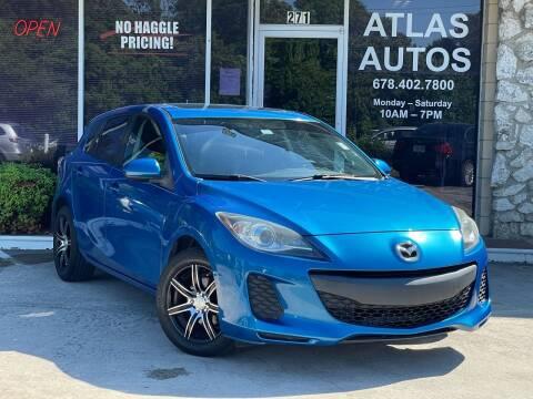 2012 Mazda MAZDA3 for sale at ATLAS AUTOS in Marietta GA
