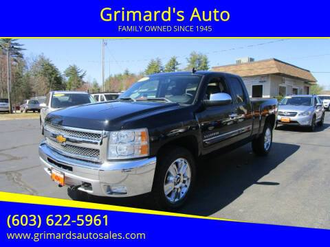 2013 Chevrolet Silverado 1500 for sale at Grimard's Auto in Hooksett, NH