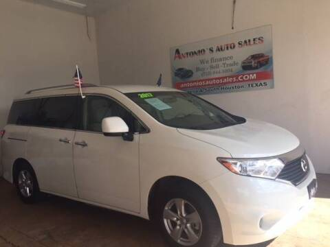 2017 Nissan Quest for sale at Antonio's Auto Sales in South Houston TX
