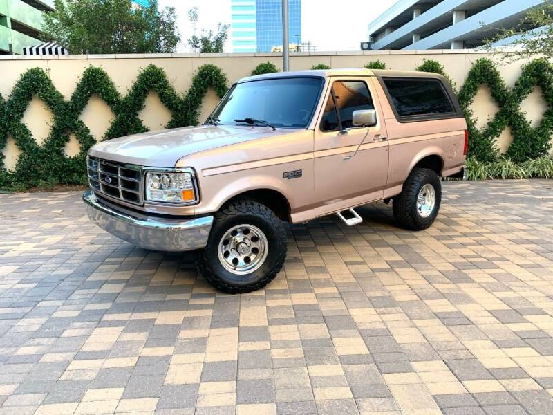 1996 Ford Bronco for sale at ROGERS MOTORCARS in Houston TX