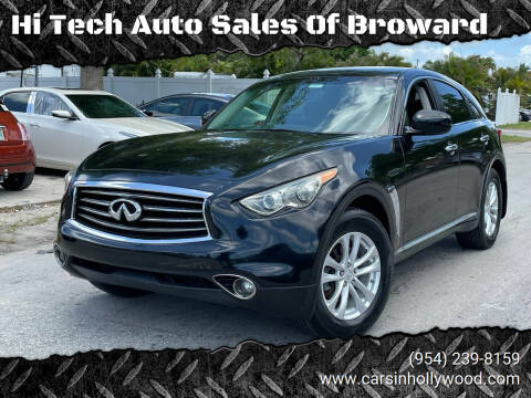2012 Infiniti FX35 for sale at Hi Tech Auto Sales Of Broward in Hollywood FL