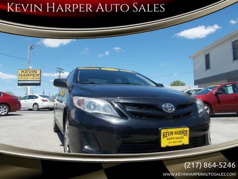 2011 Toyota Corolla for sale at Kevin Harper Auto Sales in Mount Zion IL