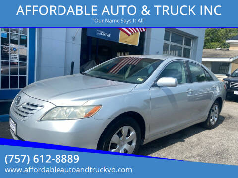 2007 Toyota Camry for sale at AFFORDABLE AUTO & TRUCK INC in Virginia Beach VA