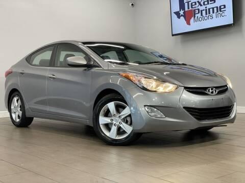2013 Hyundai Elantra for sale at Texas Prime Motors in Houston TX