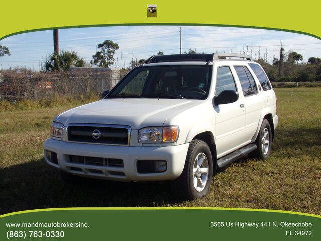 2003 Nissan Pathfinder for sale at M & M AUTO BROKERS INC in Okeechobee FL