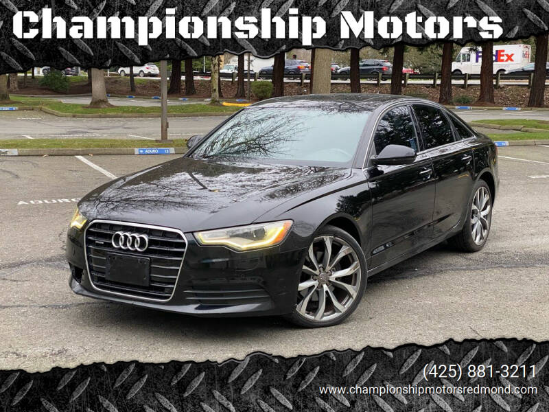 2013 Audi A6 for sale at Championship Motors in Redmond WA