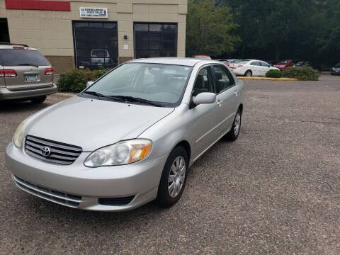 2003 Toyota Corolla for sale at Fleet Automotive LLC in Maplewood MN