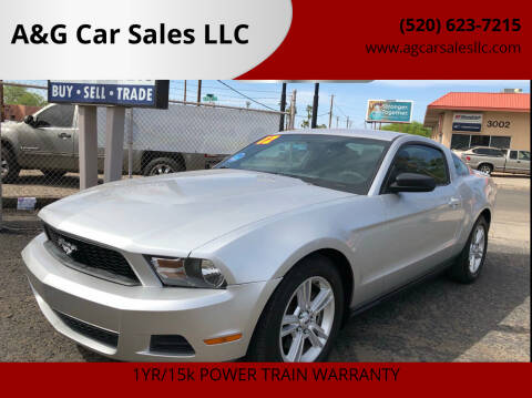 2012 Ford Mustang for sale at A&G Car Sales  LLC in Tucson AZ