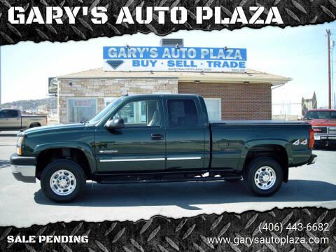 2003 Chevrolet Silverado 2500HD for sale at GARY'S AUTO PLAZA in Helena MT