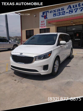 2015 Kia Sedona for sale at TEXAS AUTOMOBILE in Houston TX
