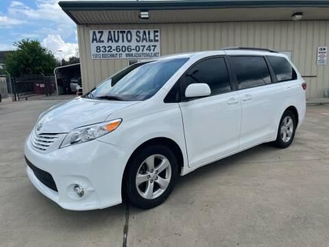 2015 Toyota Sienna for sale at AZ Auto Sale in Houston TX