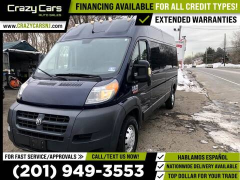2016 RAM ProMaster Cargo for sale at Crazy Cars Auto Sale in Jersey City NJ