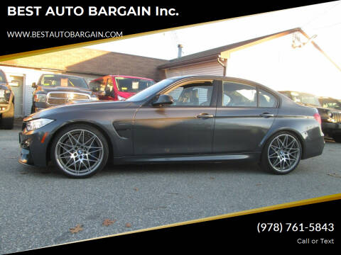 2016 BMW M3 for sale at BEST AUTO BARGAIN inc. in Lowell MA