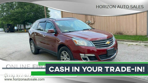 2015 Chevrolet Traverse for sale at Horizon Auto Sales in Raleigh NC