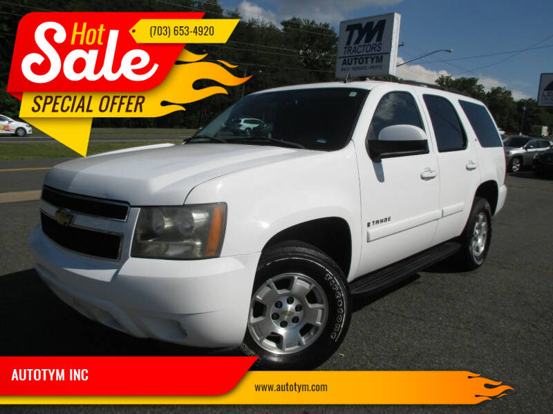 2007 Chevrolet Tahoe for sale at AUTOTYM INC in Fredericksburg VA