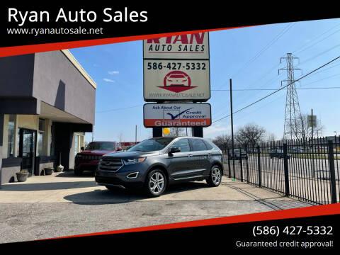 2017 Ford Edge for sale at Ryan Auto Sales in Warren MI