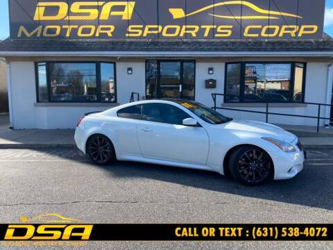 2008 Infiniti G37 for sale at DSA Motor Sports Corp in Commack NY