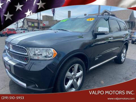 2012 Dodge Durango for sale at Valpo Motors Inc. in Valparaiso IN
