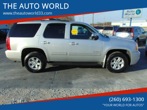 2011 GMC Yukon for sale at THE AUTO WORLD in Churubusco IN