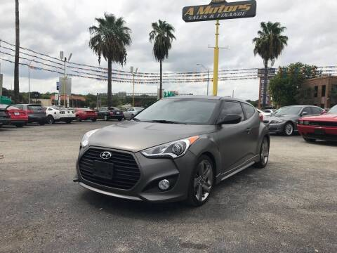 2015 Hyundai Veloster Turbo for sale at A MOTORS SALES AND FINANCE - 5630 San Pedro Ave in San Antonio TX