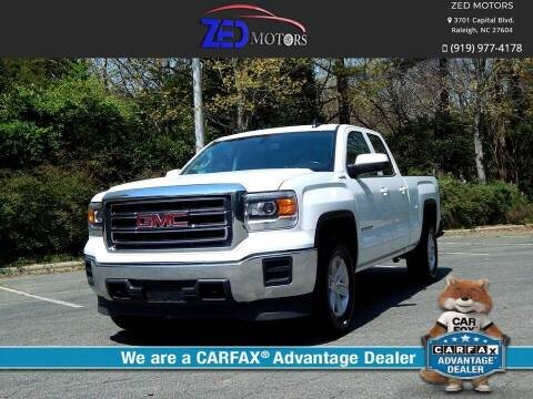 2015 GMC Sierra 1500 for sale at Zed Motors in Raleigh NC