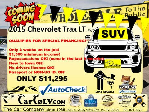 2015 Chevrolet Trax for sale at The Car Company in Las Vegas NV