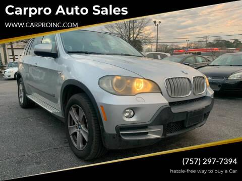 2007 BMW X5 for sale at Carpro Auto Sales in Chesapeake VA