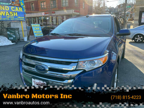 2013 Ford Edge for sale at Vanbro Motors Inc in Staten Island NY