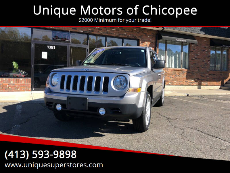 2016 Jeep Patriot for sale at Unique Motors of Chicopee in Chicopee MA