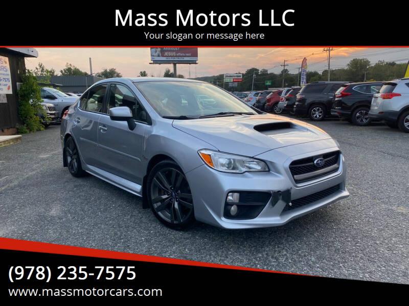 2016 Subaru WRX for sale at Mass Motors LLC in Worcester MA