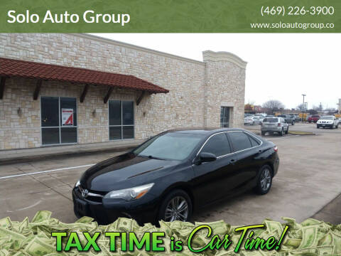 2015 Toyota Camry for sale at Solo Auto Group in Mckinney TX