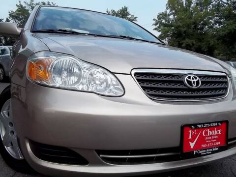 2005 Toyota Corolla for sale at 1st Choice Auto Sales in Fairfax VA