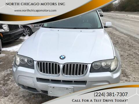 2008 BMW X3 for sale at NORTH CHICAGO MOTORS INC in North Chicago IL